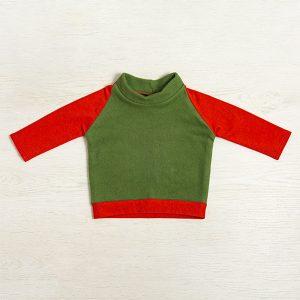 Bluza fleece verde