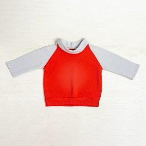 Bluza tricot rosu fleece
