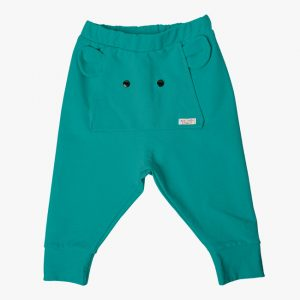 Pantaloni tricot albastru ocean