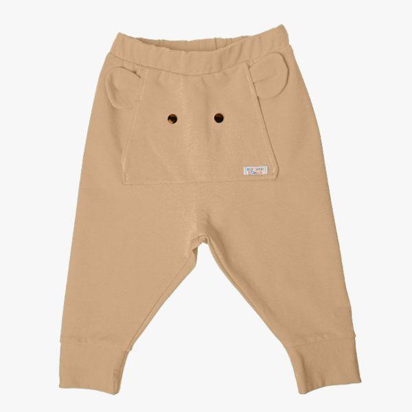 Pantaloni tricot bumbac elefant crem