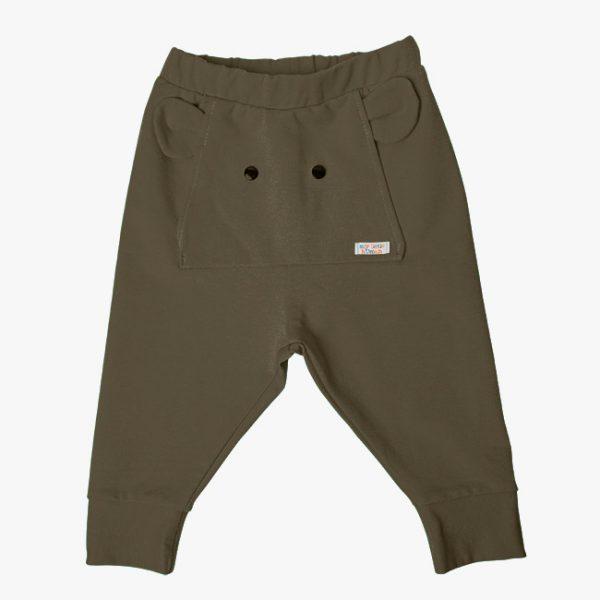 Pantaloni tricot bumbac elefant kaki