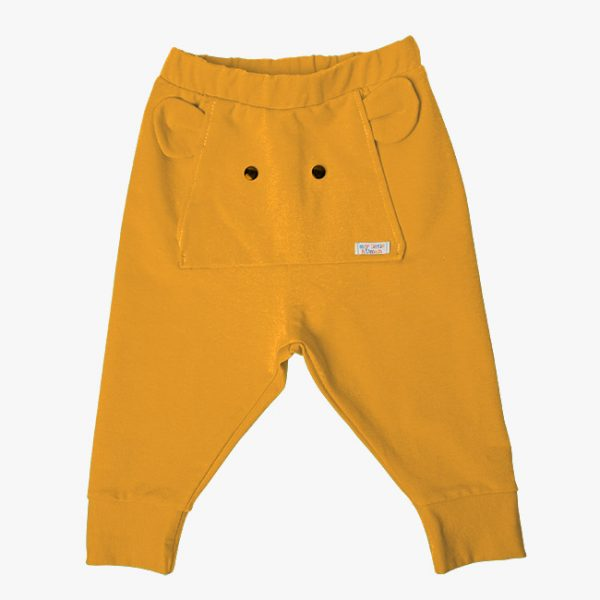 Pantaloni tricot bumbac elefant mustar